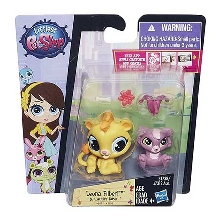 Littlest Pet Shop Pet Pawsabilities Leona Filbert and Cackles Rossi
