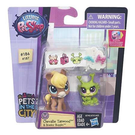 Littlest Pet Shop Pet Pawsabilities Chevallie Tanwood and Breeley Buggles