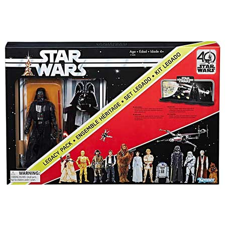 Star Wars 40th Anniversary Legacy Pack Display Diorama with Darth Vader 6-Inch Action Figure