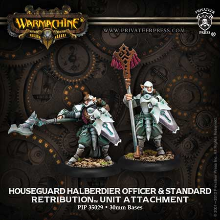 Retribution: Houseguard Halberdier Officer and Standard Bearer
