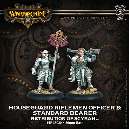 Retribution: Houseguard Riflemen Officer & Standard Bearer