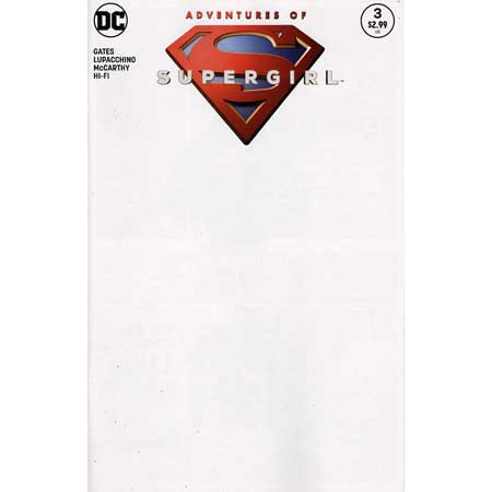 Adventures Of Supergirl #3 Blank Variant
