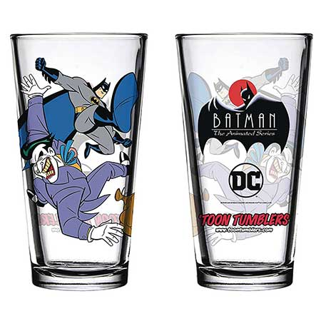 Batman Animated Series Batman & Joker Pint Glass