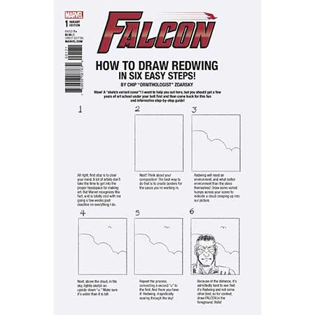 Falcon #1 How To Draw Variant