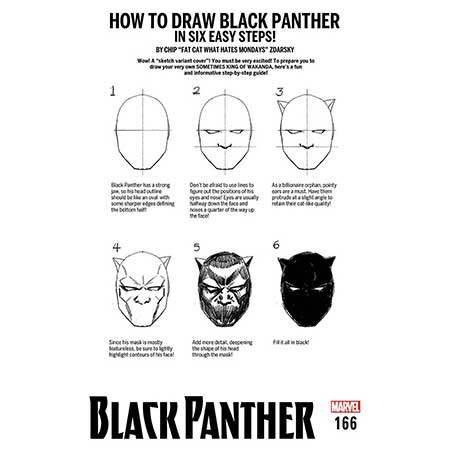 Black Panther #166 How to Draw Variant