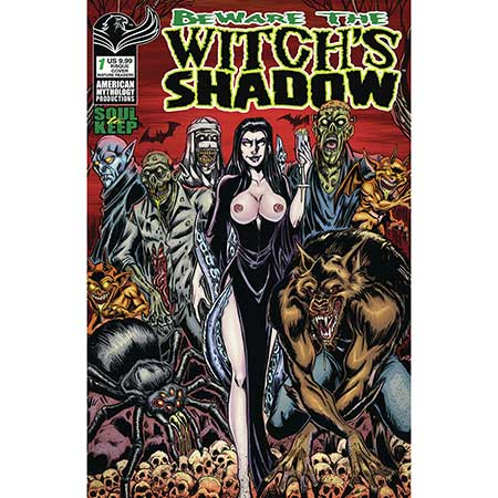 Beware Witch`S Shadow Winter Special Cover C Calzada Risque