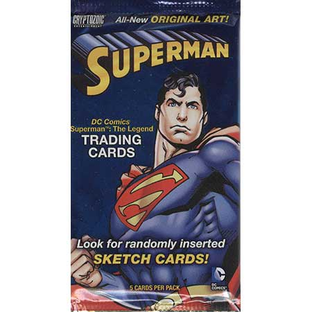 Superman The Legend Trading Cards Pack