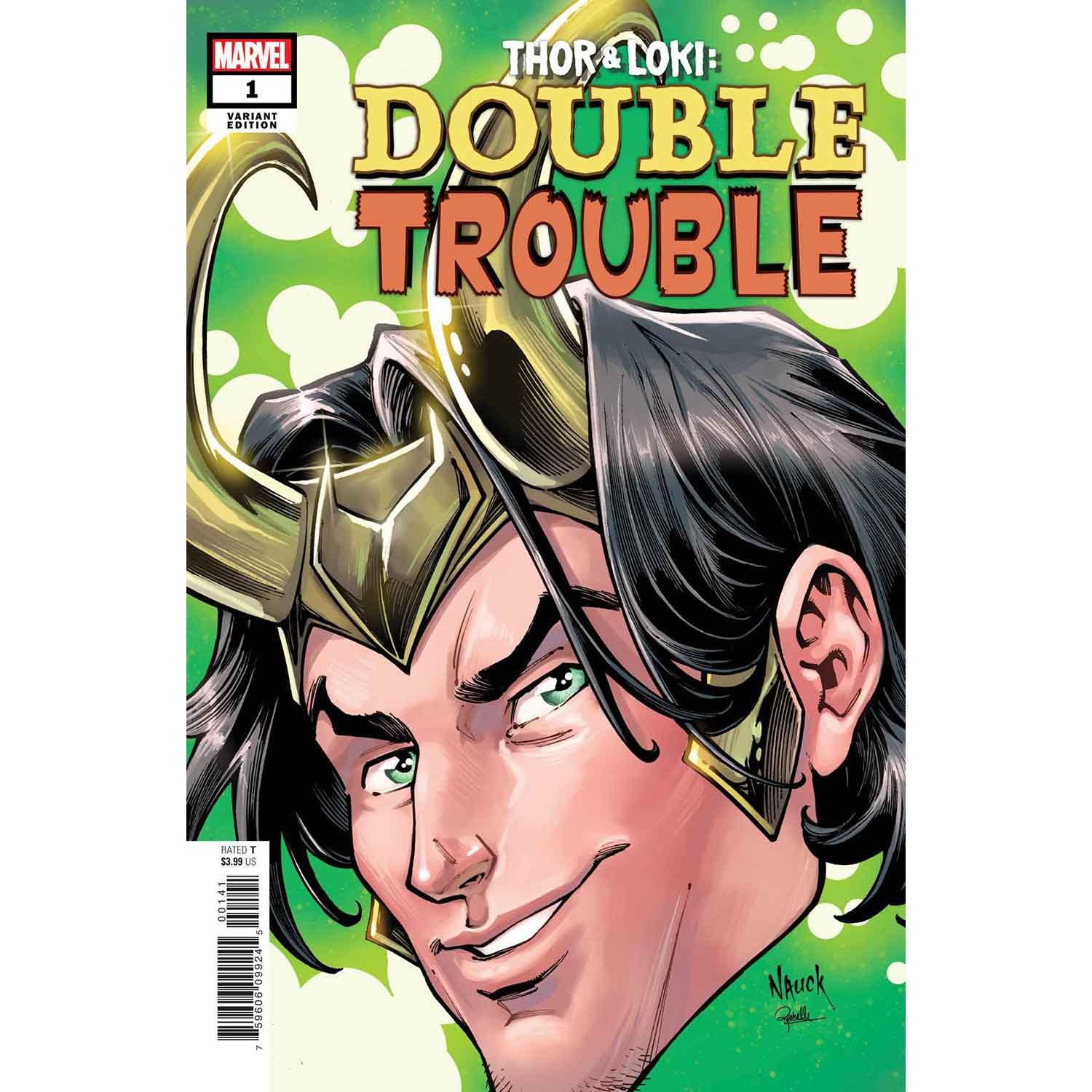 Thor And Loki Double Trouble #1 Nauck Headshot Variant