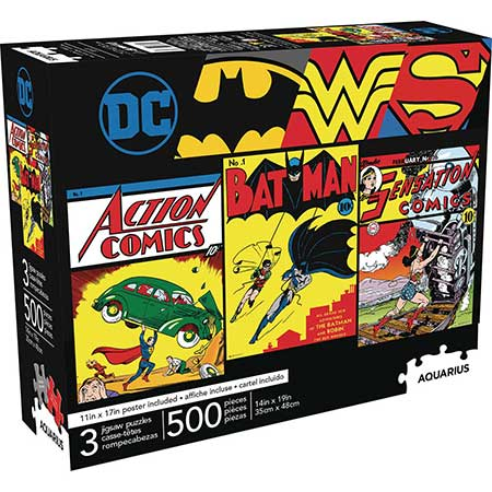 Aquarius Dc Comics 500Pc 3 In 1 Puzzle