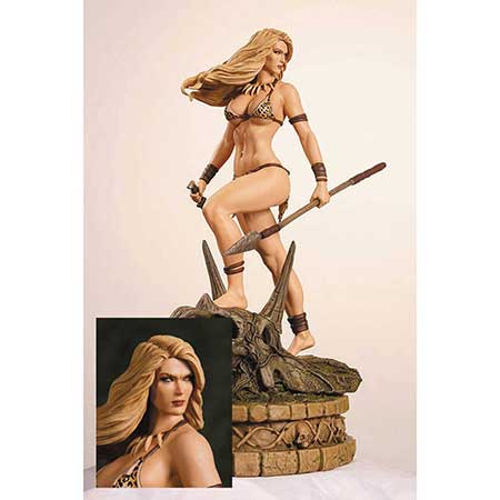 Women Dynamite Jungle Girl Statue Diamond Eye Edition Artist Proof Edition