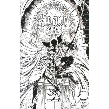 Spawn #300 Cover N Campbell b&w Variant