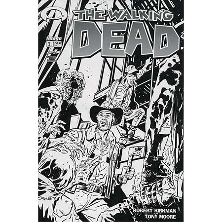 Walking Dead #002 15Th Anniversary b&w Variant