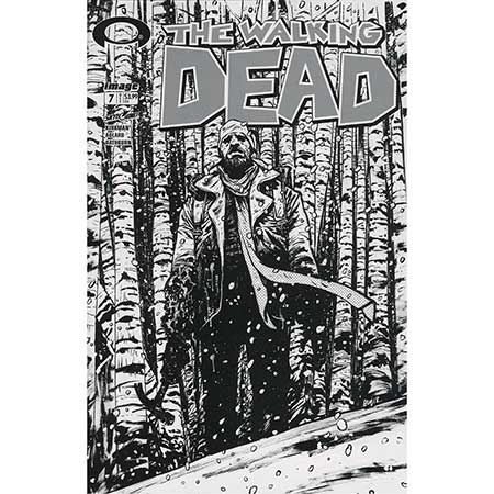 Walking Dead #007 15Th Anniversary b&w Variant