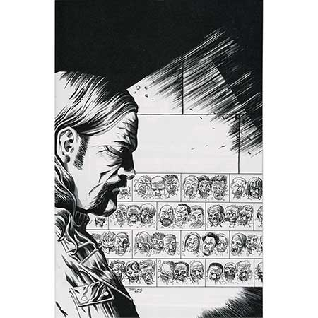 Walking Dead #027 15Th Anniversary b&w Virgin Variant