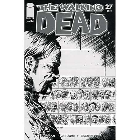 Walking Dead #027 15Th Anniversary b&w Variant