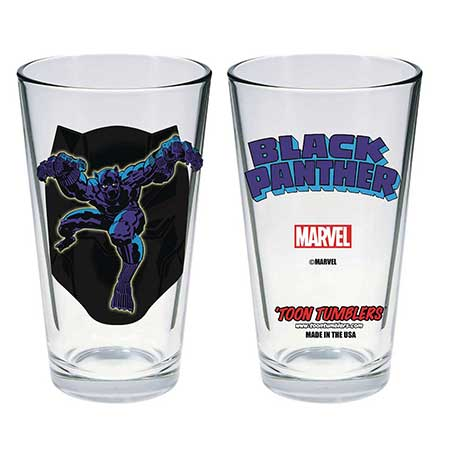 Toon Tumblers Marvel Comic Black Panther Pint Glass