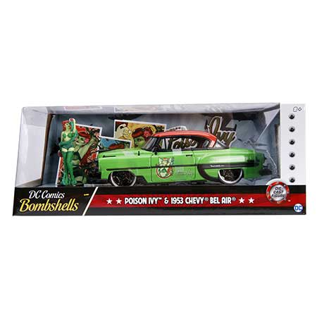 DC Bombshells 53 Chevy Bel Air w/ Poison Ive 1/24 Vehicle